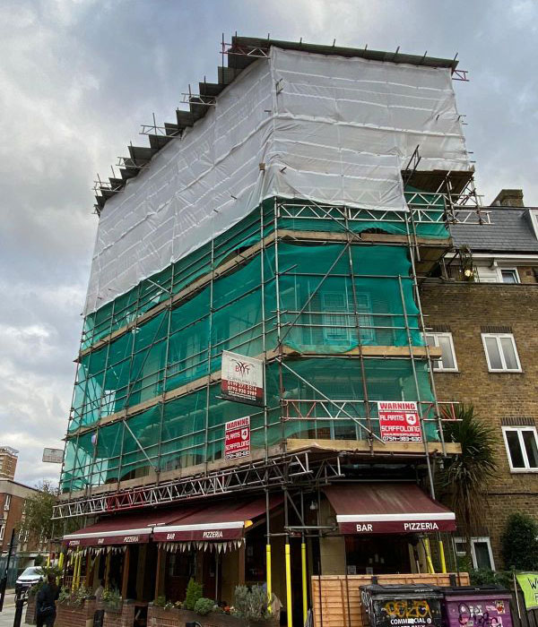 Temporary Roofs - East London - B&T Scaffolding