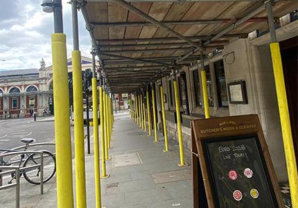 Temporary Scaffolding - Smithfield - Central London